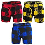 Bawbags Plaid 3 Pack Mens Boxer Shorts