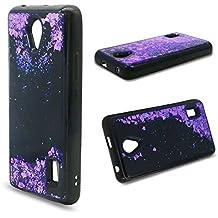 Funda Huawei Y635 Quicsand Cáscara Silicona TPU Diseño 3D Creativo Caso Líquido Flotante Arena Movediza Bling Gliter Brillo Polvo Suelto Lentejuelas Protectora Transparente Cubierta (Amor purpura)