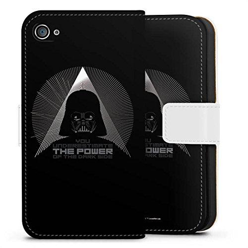 Apple iPhone X Silikon Hülle Case Schutzhülle Star Wars Fanartikel Zubehör Darth Vader Sideflip Tasche weiß