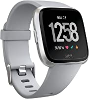 Fitbit Versa Health & Fitness Smartwatch with Heart Rate, 4+ Day Battery & Water Resistance, Grey/Silver Aluminum