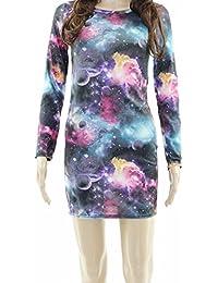 Womens Tunic Top Dress Aztec Printed Bodycon Short Celebrity Tops Mini Dresses