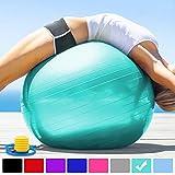 arteesol Gymnastikball 45cm / 55cm / 65cm / 75 cm inkl. Pumpe Anti-Burst Sitzball...
