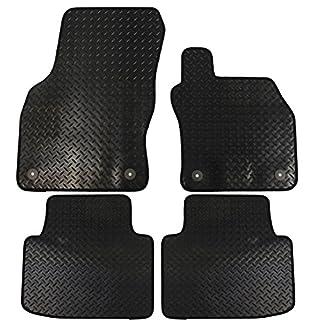 JVL Autofußmatten für  Superb MK3ab Baujahr 2015, Gi mit 4Befestigungsclips, Schwarz, 4Stück