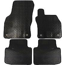 JVL–Skoda Superb MK32015Onward totalmente alfombrillas a medida de goma para el coche con 4clips–negro, 4piezas