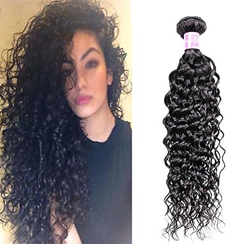 Brasilianische Tiefe Welle Menschliches Reines Haar 1 Beutel Brasilianische Tiefe Welle Dame Haarpflege Haar Bundle 100 G Doppelvorhang JMQ , 16inch