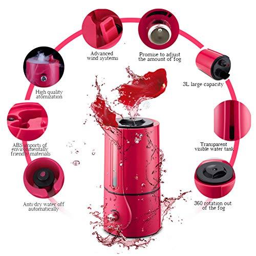 LGLZKA Large Capacity 3L fogger Ultrasonic Air Humidifier Electric Air Purifier Mist Maker for Home