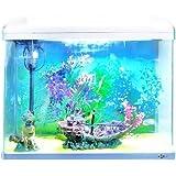 Aquarline Seastar Aquarium Kit Complete with Lighting and Filter System, 48 Liter, White