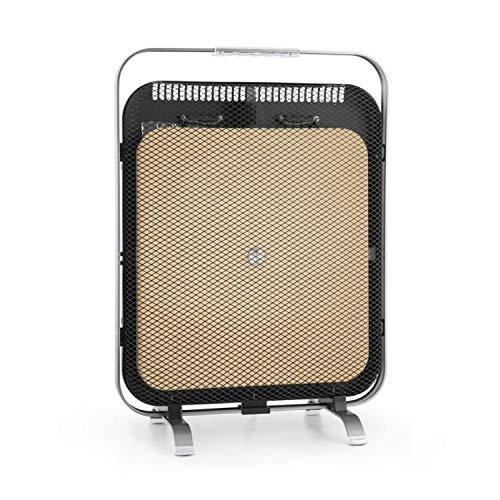 Klarstein HeatPal Marble Blackline radiador infrarrojo - Radiador portátil, Radiador Vertical, 1300...