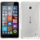 Funda de silicona para Microsoft Lumia 640 - S-Style transparente - Cover PhoneNatic Cubierta + protector de pantalla