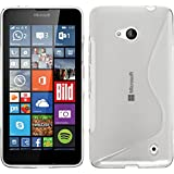 PhoneNatic Coque en Silicone pour Microsoft Lumia 640 - S-Style Transparent - Cover Cubierta + Films de Protection