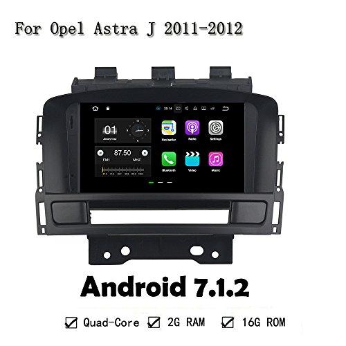 7'Android 7.1.2Quad Core coche reproductor de radio unidad principal para Opel Astra J 2011–2012navegación GPS 2G RAM 16G ROM 4G LTE DVR