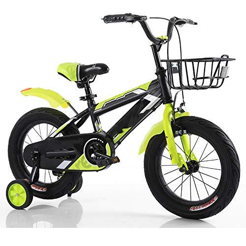 YUMEIGE Bici per Bambini Bici per Bambini, seggiolino Regolabile in Altezza per Bambini con Ruote da Allenamento 12 14 16 18 Pollici Adatto per 3-9 Anni Regalo per Bambini Disponibile