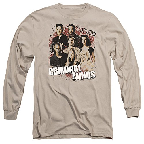 Criminal Minds TV Show CBS Solution Lies Within Adult Long Sleeve T-Shirt Tee
