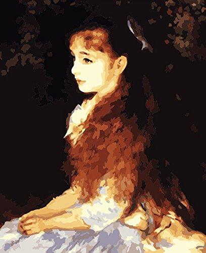 [] con cornice in legno Alb 40,6x 50,8cm vernice da numeri DIY pittura Famoso Pittura Collection 1 Irene Cahen d'Anvers