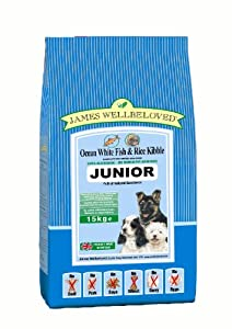 James Wellbeloved Junior Fish and Rice Kibble 15 kg from Crown Pet Foods