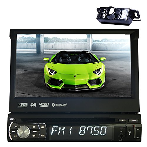 GPS Autoradio In Deck Auto-Stereo-Video BT Musik-Monitor RDS Autoradio Universal 1 din Car DVD-Player Audio-TFT Touch iPod Logo BT-Kamera