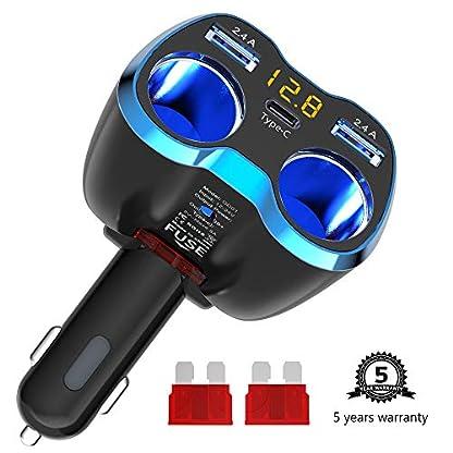 Qidoe-USB-C-Auto-Ladegert-Zigarettenanznder-Verteiler-Adapter-Splitter