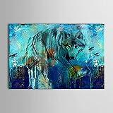 XM handgemaltes Ölgemälde Tier Wolf auf der Suche nach Nahrung