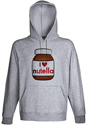 Nutella Lover Hoodie Custom Made Hooded Sweatshirt (L) Chocolate Hooded Sweatshirt Hoodie