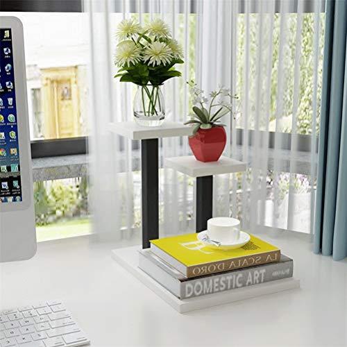 Schwimmende Regale Metal Floating shelf bracket - Mini Office Desktop Mehrschichtiger kleiner Blumenständer für Sukkulenten Trapezförmiger Topfständer (Farbe : F) - Schwimmenden Regalen Office