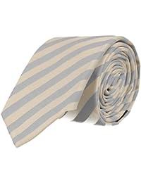 Strellson cravate étroite bleu clair blanc rayé 6 cm
