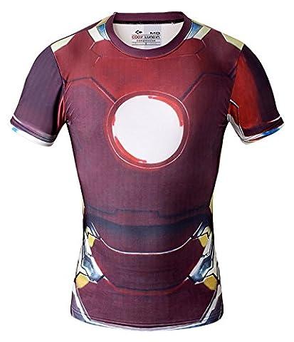 Cody Lundin Mens Sport Training Joggen Superhero Kurzarm Fitness T-Shirt Herren gedruckten Kurzarm Hemd Freizeit Tops