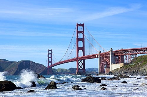 Beförderung Kabel (Postereck - Poster 0929 - Golden Gate Bruecke, Wasser San Francisco USA Meer Größe 3:2-30.0 cm x 20.0 cm)