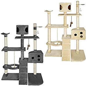TecTake Cat scratcher activity center cat tree deluxe -different colours-