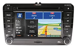zenec ze nc2010 direct fit double din navigation head. Black Bedroom Furniture Sets. Home Design Ideas