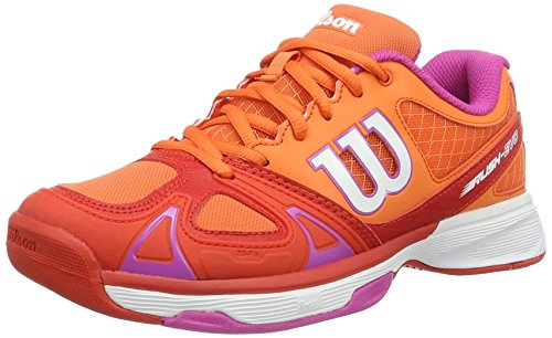 WILSON RUSH EVO W NASTURTIUM/FIERY RED/Rose V 8,   Tennisschuhe, Rot (Nasturtium/Fiery Red/Rose Violet), 42 EU (8 UK)