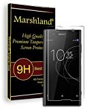 Marshland® Sony Xperia XA1 tempered Glass Screen Protector (Transparent 3D) Full Curved Edges 99% Transparency 0.3mm Thickness 9H Hardness Bubble Free Oleo phobic Coating Anti Scratch Perfect Fit Tempered Glass for Xperia XA1