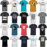 JACK & JONES T Shirt Herren 3er 6er 9er Mix Rundhals Tee Regular fit Baumwolle S M L XL (L, 9er Mix Pack)