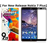Annure® Edge To Edge Tempered Glass Screen Protector For Nokia 7 Plus - Black
