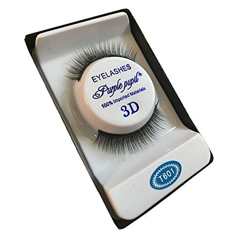 wyxhkj faux cils 3D doux 10 paires de long maquillage croix épaisse faux cils cils naturels Maquillage quotidien (C)