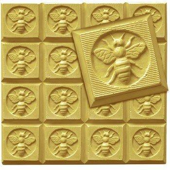 Milchstraße Honeybee Gäste Seife Form Tablett-Schmelzen und gießen-Kälte Prozess-Klar PVC-nicht Silikon-MW 105 -
