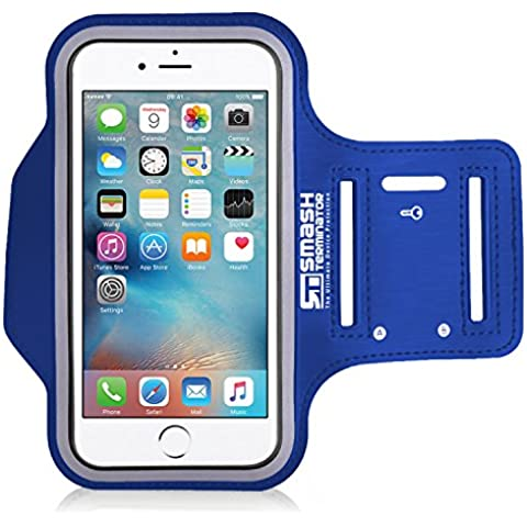 iPod Touch 1-7 generación Ejecución de jogging brazal por SmashTerminator® Deportes, ejercicio de la gimnasia, brazal, caso, cubierta, Holder, Hecho de neopreno de primera calidad y Lycra. Incluye una capa especial resistente al sudor, marco reflectante para mayor seguridad y la ranura de la llave oculta (como se ve en la revista Runners World - 5 Estrellas) incluye 18 meses de garantía