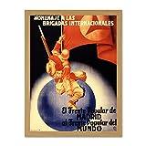 Wee Blue Coo LTD War Spanish Civil International Brigade Homage Popular Front Large Framed Art Print Poster Wall Decor 1