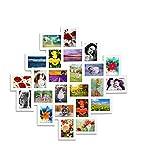 Mobili Rebecca® Porta Foto Cornici Collage Fotografie 24 Spazi Misure 10 x 15 Mdf Bianco Home Decor (Cod. RE4168)