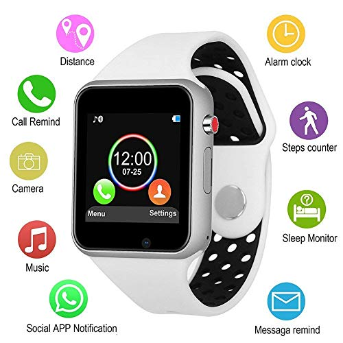 SLSH Smart Uhren, Touchscreen Bluetooth Smartwatch mit Kamera entsperrt Smart Watch mit SIM TF Card Slot Smart Armbanduhr Kompatibel Android Handys Samsung LG iOS iPhone für Männer Frauen Kinder (3 Watch Halloween)
