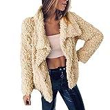 IMJONO Womens Drape Velvet Jacket Open Front Cardigan Coat mit Taschen (Large,Khaki)