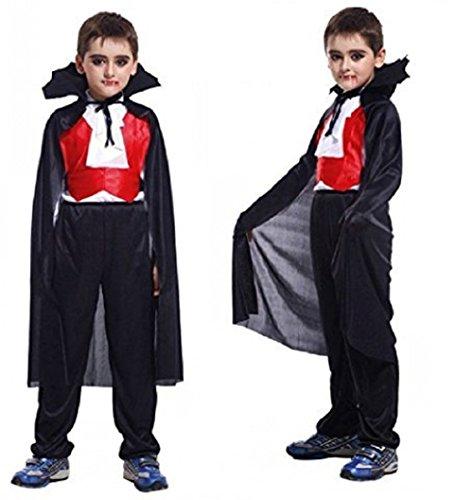 Jahre - Kostüm Verkleidung Karneval und Halloween von Vampir Dracula Twilight Farbe Schwarz Gebiss enthalten männliches Kind (Kostüm Vampir Twilight)