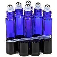 switty 6, Cobalt Blau, 10ml Ätherisches Öl Glas Roll-On Flaschen mit Edelstahl-Roller Kugeln –, 5ml dropper... preisvergleich bei billige-tabletten.eu