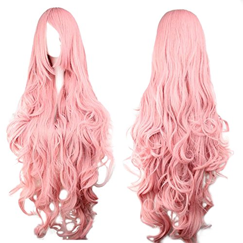 Ladieshair-Pink-Wig-Approx-90-cm-for-Vocaloid-Luka-Cosplay-or-Window-Dolls-Carnival-Fancy-Dress-Parties