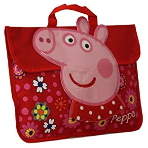 51K7bQM7zIL. SS300  - Peppa Pig Nuevo Niña/Rojo Para Niños Cierre De Velcro Solapa Front Mochila - Rojo/Varios colores - TALLAS GB 1-1
