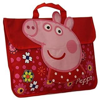 Nuevo Niña/Rojo Para Niños Peppa Pig Cierre De Velcro Solapa Front Mochila – Rojo/Varios colores – TALLAS GB 1-1