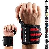 Handgelenk Bandagen [Wrist Wraps] von FITGRIFF - 45 cm Handgelenkbandage für Fitness, Bodybuilding, Kraftsport & Crossfit - für Frauen und Männer - 2 Jahre Gewährleistung
