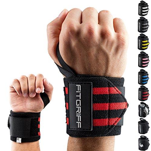 k Bandagen [Wrist Wraps] 45cm Handgelenkbandage für Fitness, Bodybuilding, Kraftsport & Crossfit - für Frauen und Männer ()