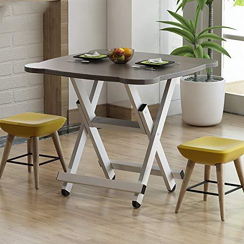 QARYYQ Klapptisch Hause esstisch einfach esstisch im freien klapp quadratisch einfach 4 Personen kleinen Tisch Klapptisch (Farbe : A, Design : H50cm) - Klapp-esstisch