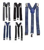 Lote de 10 Tirantes para Pantalones Hombres o Mujeres - Tirantes Originales para regalos de Bodas,...