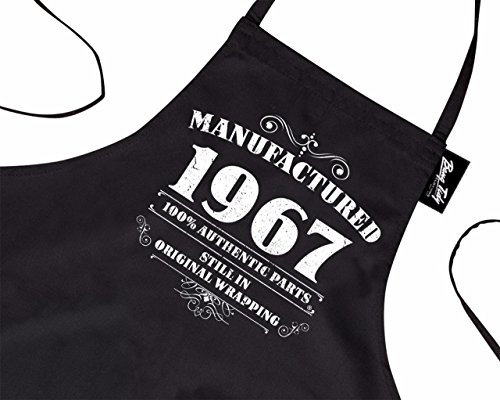 Men's 50th Birthday Gift Apron Manufactured 1967 Aprons 50th Birthday Gifts for Men Test